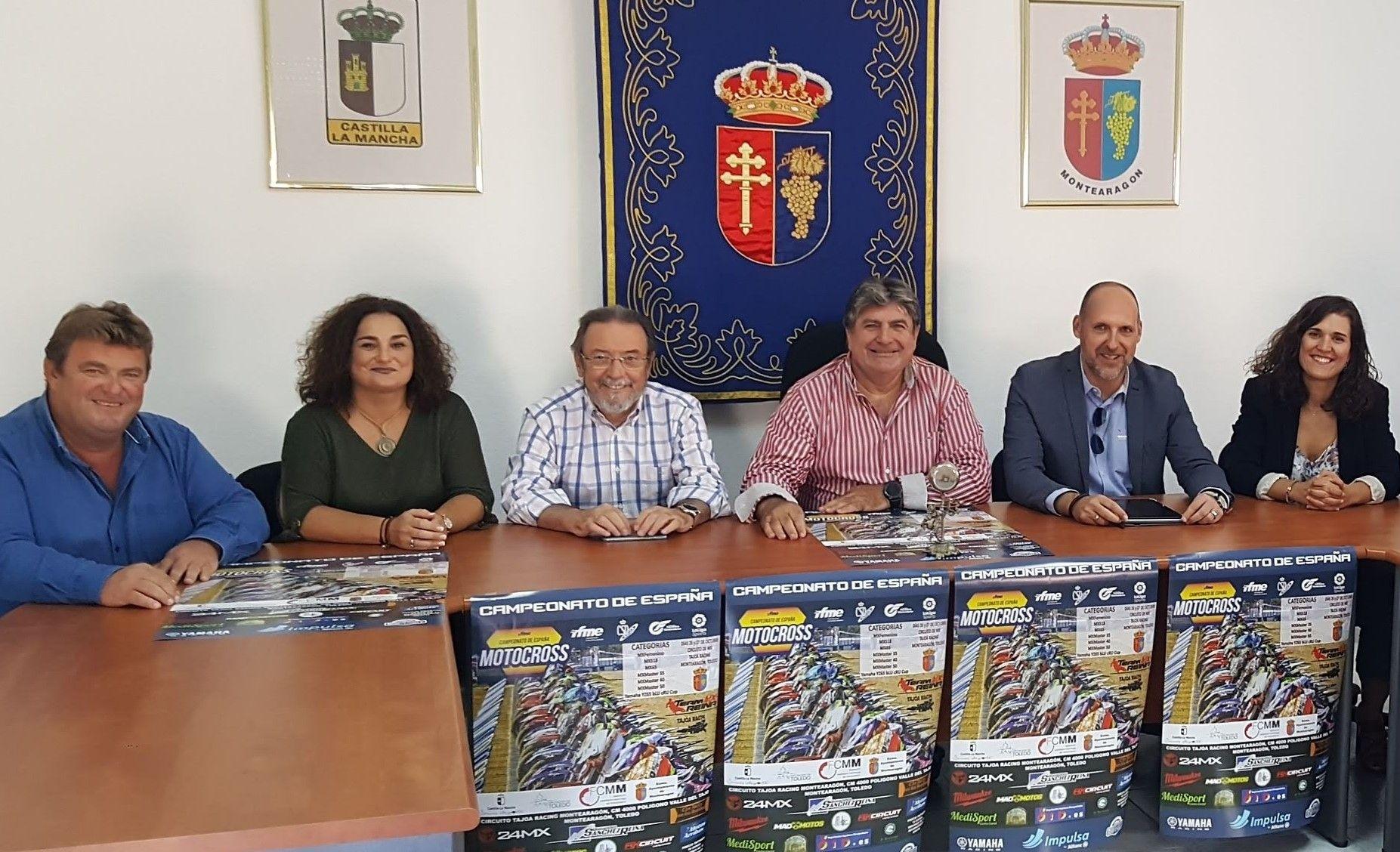El Gobierno regional felicita al Ayuntamiento de Montearagón por atraer por segunda vez a su circuito el Campeonato de España de Motocross