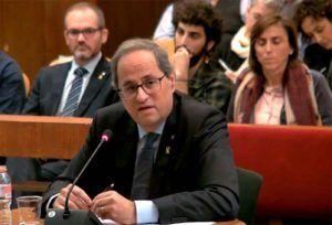 La Fiscalía acepta que Torra siga siendo presidente de la Generalitat hasta que el Supremo decida sobre su inhabilitación