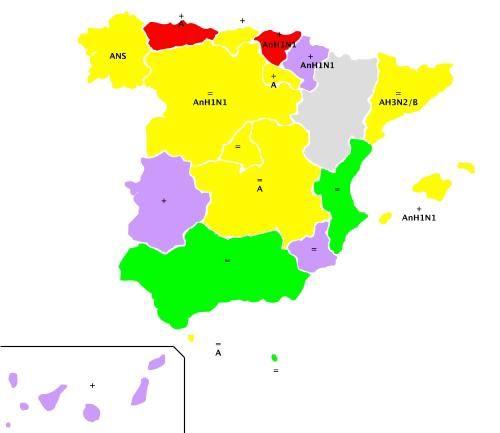 Comienza la epidemia de gripe en media España