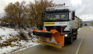 Las quitanieves de la Diputación limpiaron más de 1.100 km de carreteras el día de Año Nuevo
