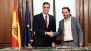 Sánchez presidirá el primer Gobierno de coalición en España desde la Segunda República