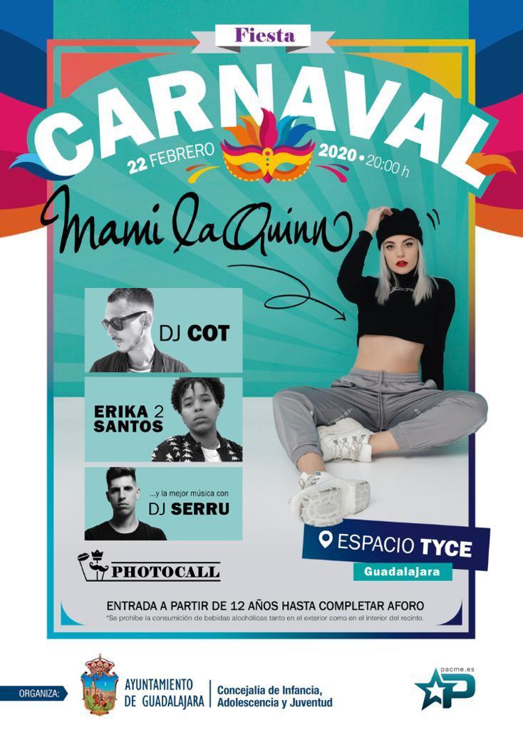 La Concejalía de Juventud programa una gran fiesta de Carnaval para menores en el TYCE este sábado