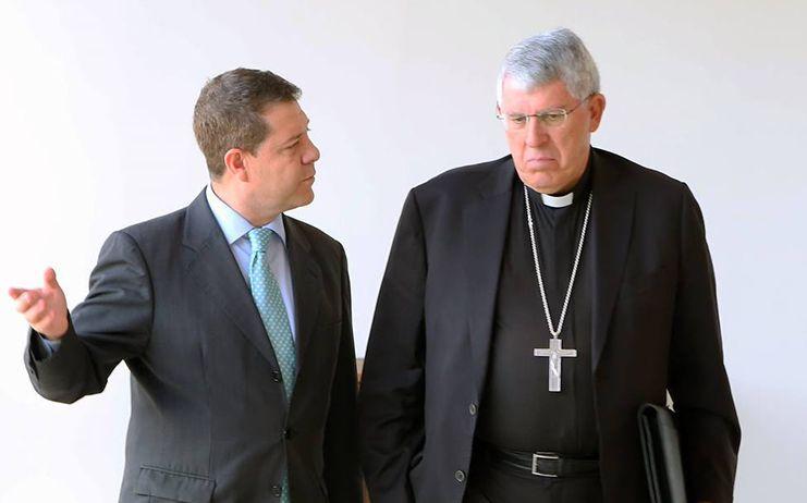 García-Page destaca la colaboración institucional y la calidad humana de Braulio Rodríguez, arzobispo de Toledo