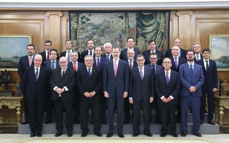 El presidente de FECIR y miembro del Comité Ejecutivo de la CETM, Carlos Marín, en una audiencia con el Rey Felipe VI