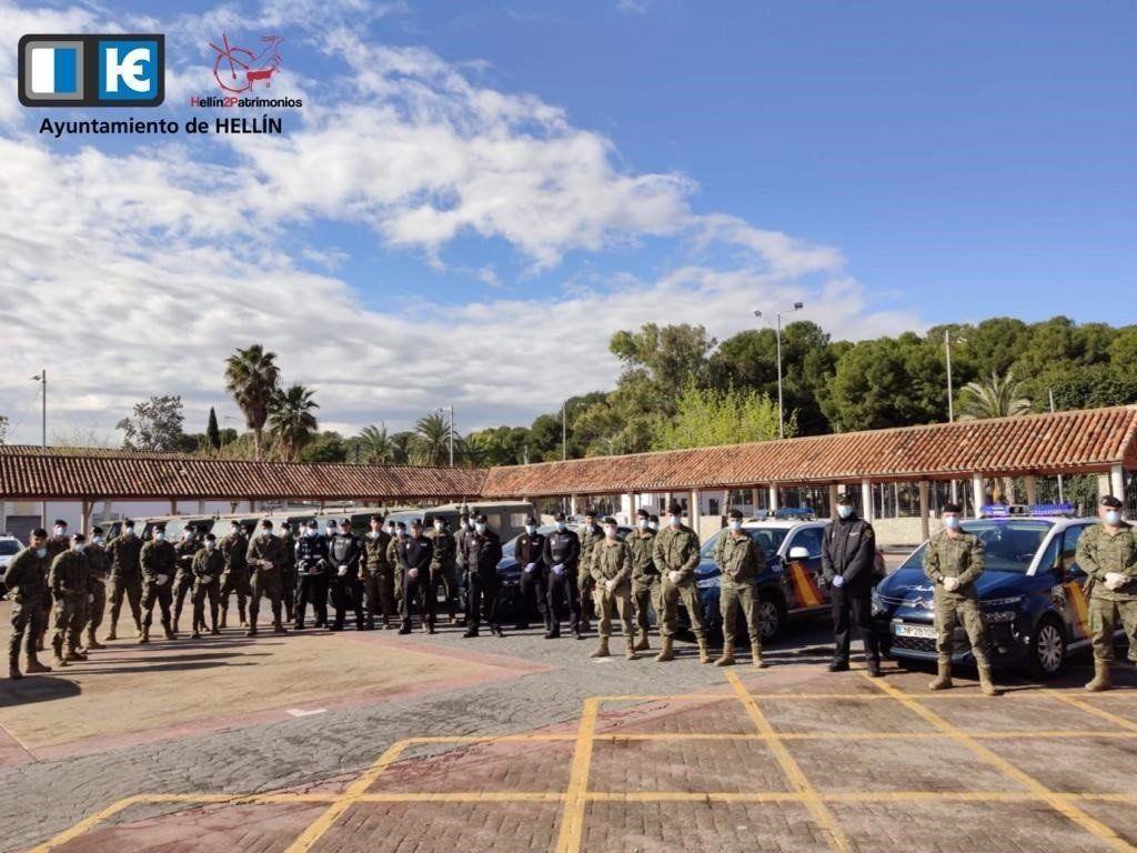 Un total de 27 militares recalan en Hellín para apoyar a la Policía en labores de patrullaje