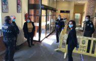 La alcaldesa visita los Servicios Generales y la Policía Local para conocer la planificación y el operativo que se está desarrollando durante la crisis sanitaria