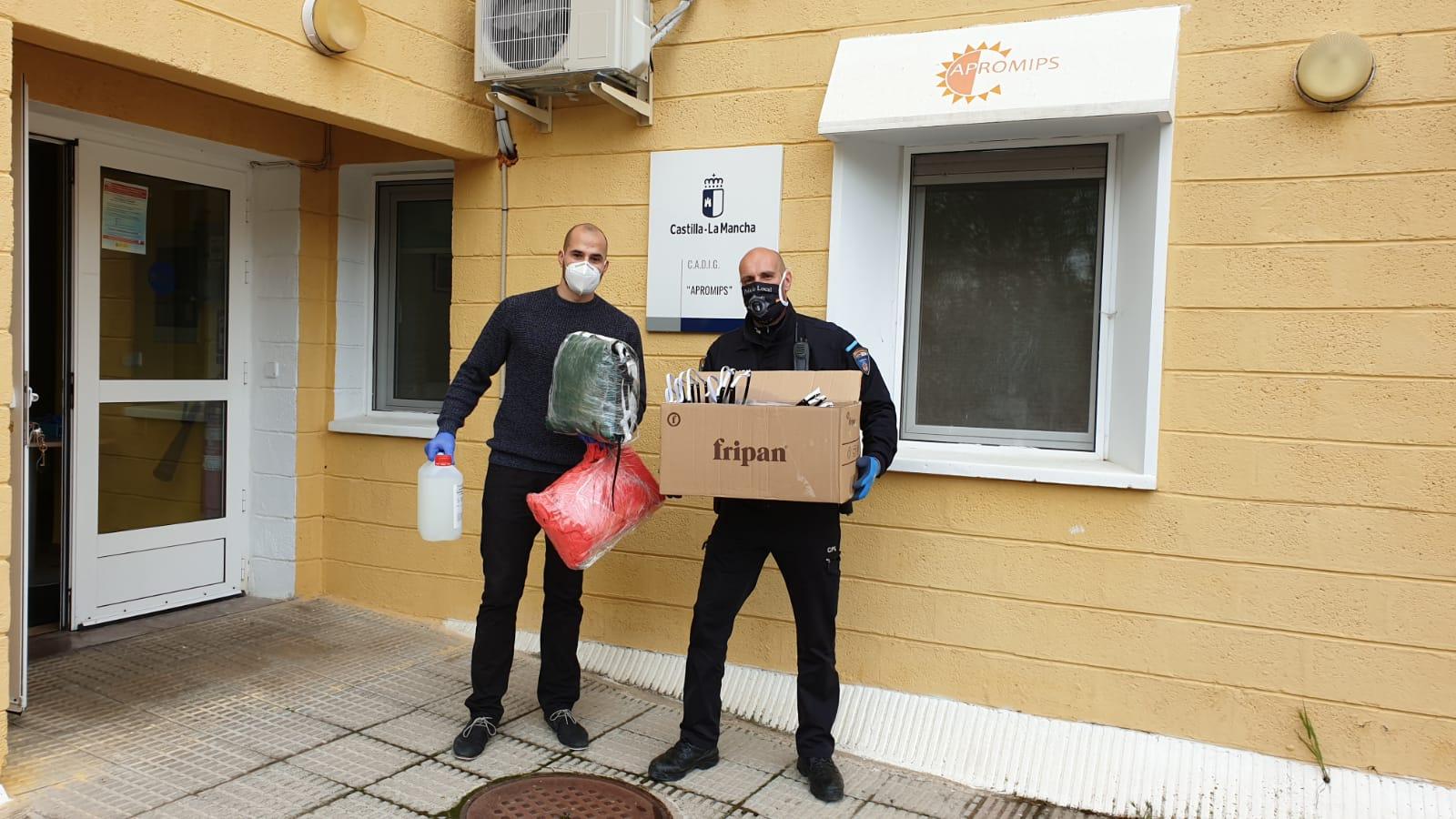 El Ayuntamiento de Cuenca entrega a APROMIPS material de protección