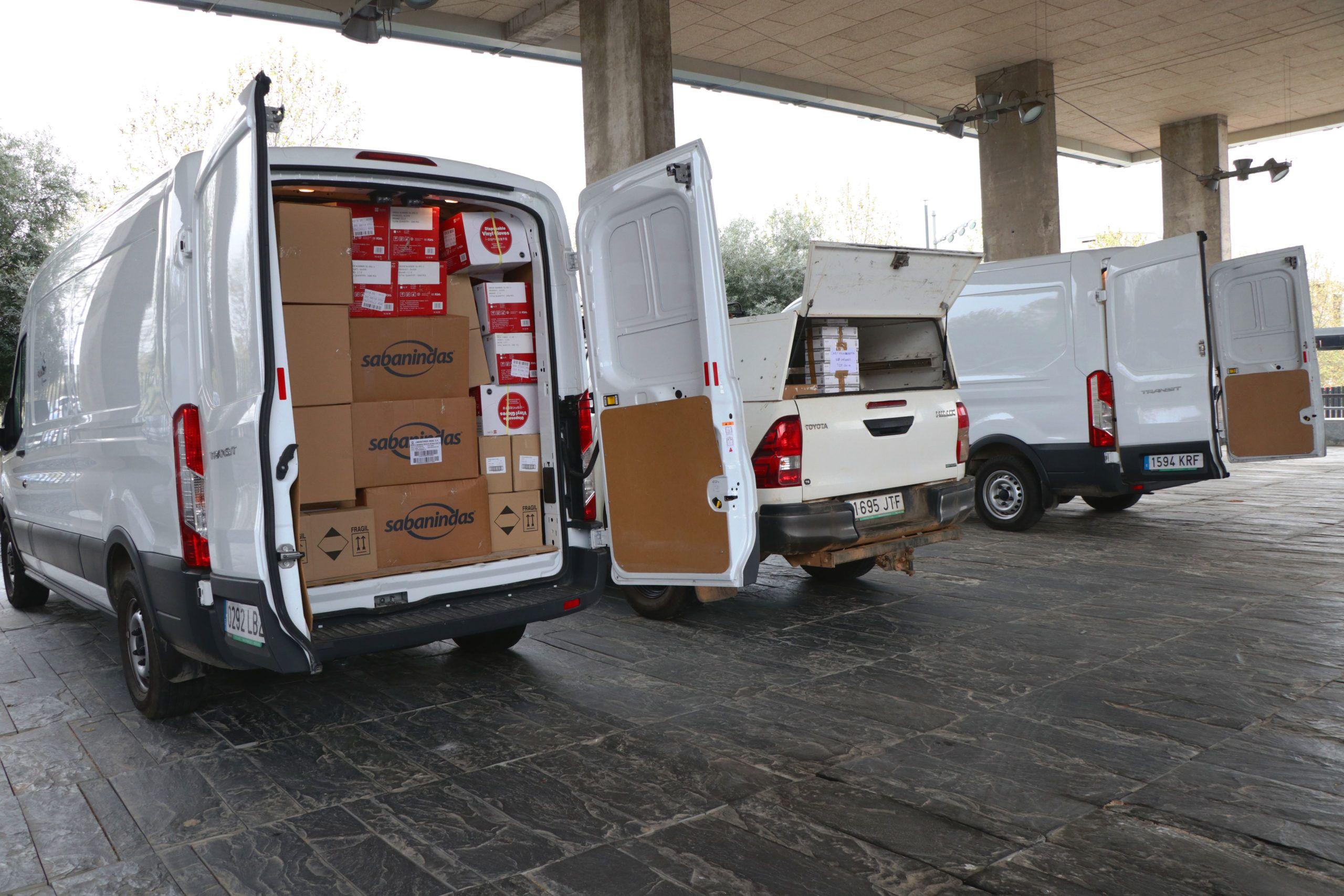 El Gobierno de Castilla-La Mancha envía hoy más de 593.000 artículos de protección para los profesionales de los centros sanitarios y sociosanitarios de la región