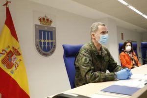 """El Rey transmite al Mando de Operaciones un mensaje """"de apoyo, gratitud y orgullo"""" por su labor frente al Covid-19"""