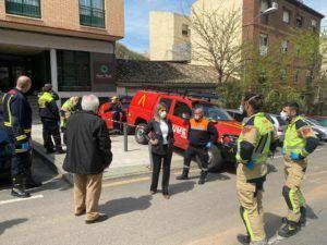 Tolón pone en valor la coordinación de la Unidad Militar de Emergencias con Policía Local, Bomberos y Protección Civil
