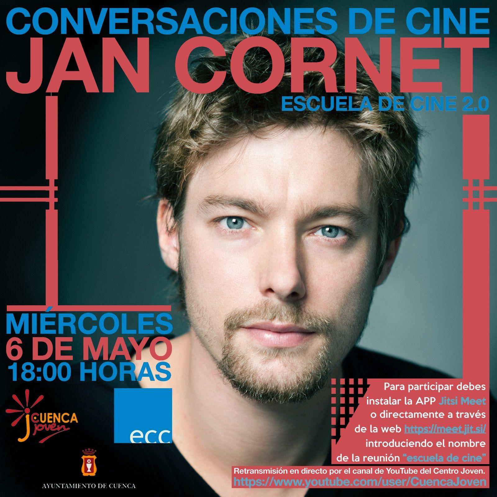 El programa del Centro Joven incluye un nuevo encuentro de cine con el actor Jan Cornet el miércoles en Cuenca