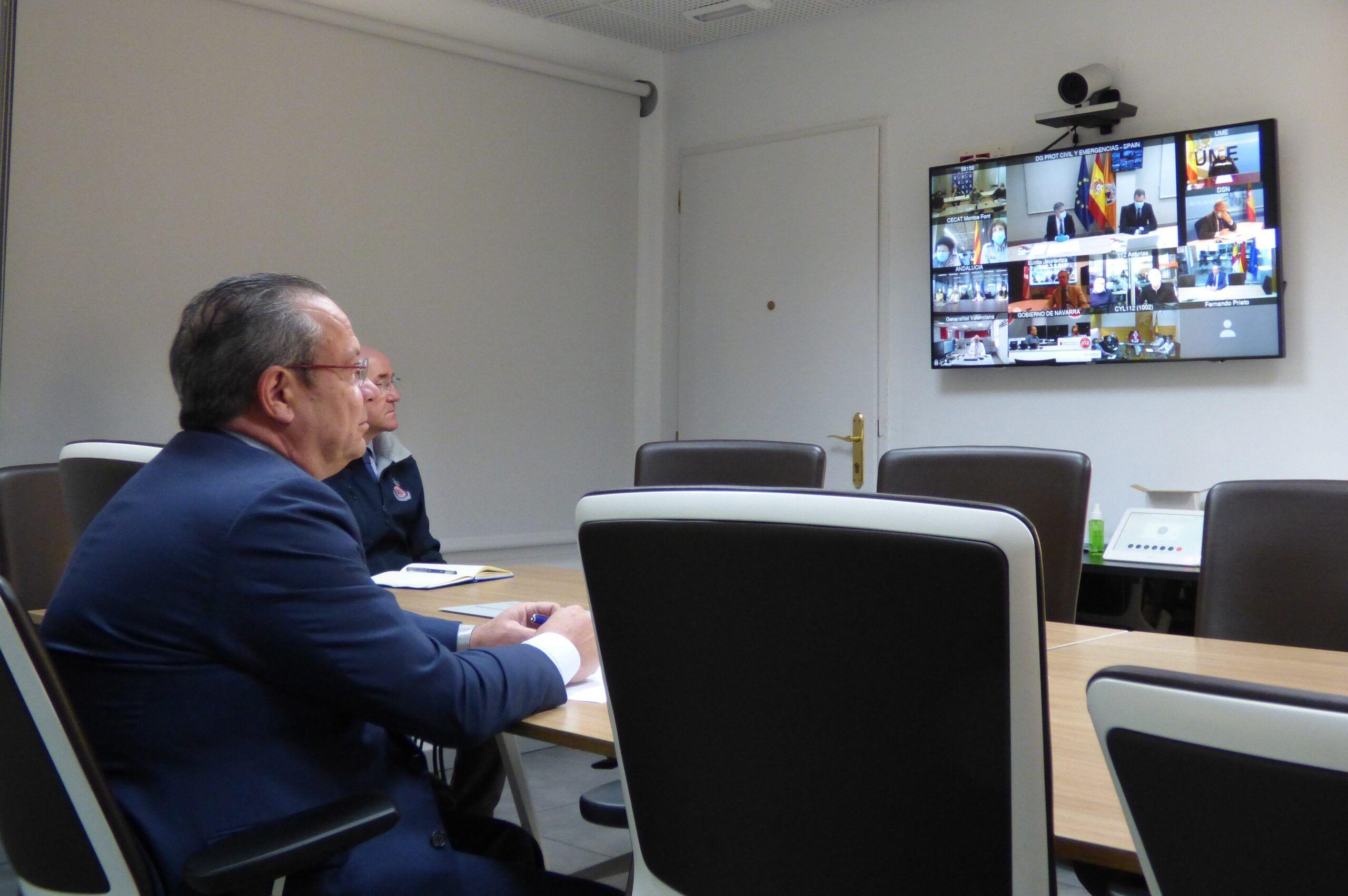 Castilla-La Mancha participa en la videoconferencia del Rey Felipe VI con las salas de emergencias del 1-1-2
