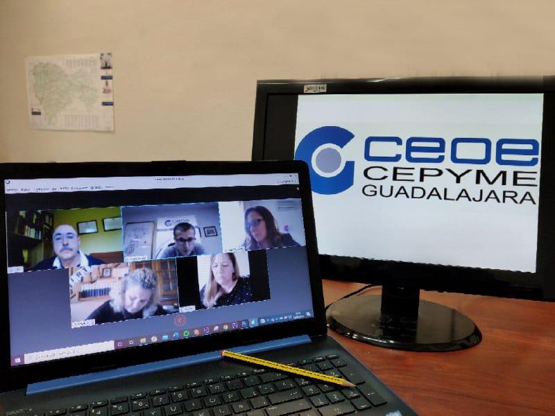 Diputación de Guadalajara y CEOE-CEPYME marcan las líneas de actuación para reactivar el tejido empresarial en la provincia