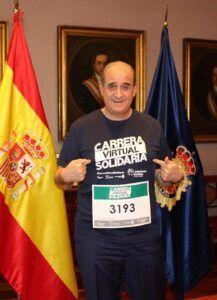 El director de la Policía secunda la Carrera Virtual Solidaria de la Fundación Eurocaja Rural