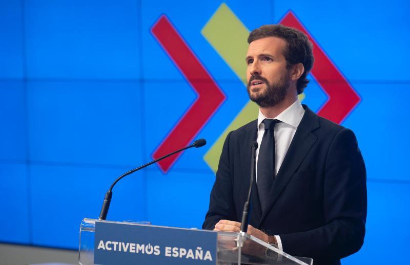 """Casado anuncia enmienda a la totalidad: """"Los PGE son nocivos para el futuro de España"""""""