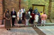 Montserrat Muro asiste a unas fiestas de la AA.VV. Puerta de Zamora en recuerdo de las víctimas por el Covid y en homenaje a los que han ayudado en la pandemia