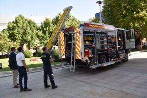 La Diputación de Cuenca presenta el nuevo camión de bomberos que ha supuesto una inversión de 610.000 euros