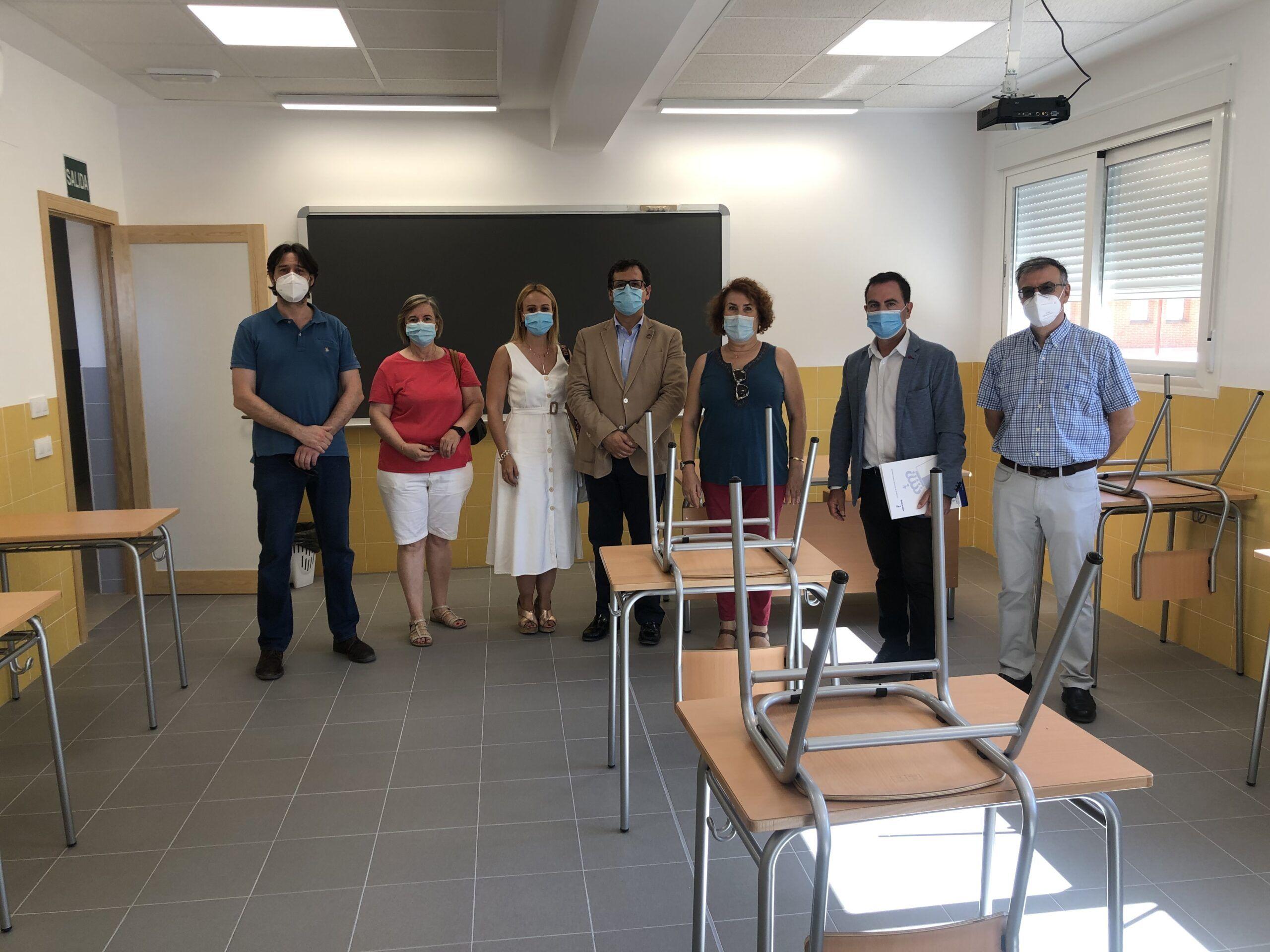 Finalizadas las obras de ampliación de cuatro unidades del IES `Julio Verne´ de Bargas, que entrarán en funcionamiento el próximo curso