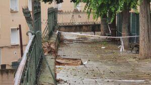 El Ayuntamiento de Cuenca acomete una actuación de urgencia en el muro de la calle Ramiro de Maeztu