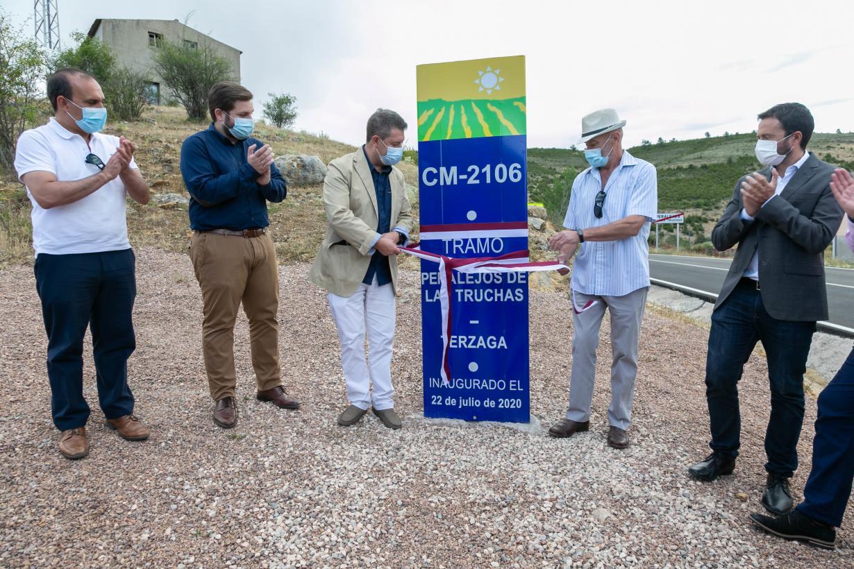 El Gobierno de Castilla-La Mancha invierte 3,8 millones de euros en la remodelación de la CM-2106 de Peralejos de las Truchas a Terzaga