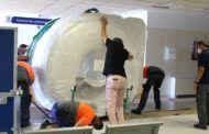 La nueva resonancia magnética ya está en el Hospital General de Villarrobledo para iniciar su instalación
