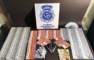 La Policía Nacional detiene a cinco personas en dos operaciones contra la distribución de dinero falso