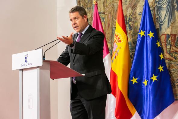 """El presidente de Castilla-La Mancha reivindica un consenso de Estado que """"permita una plataforma conjunta de reacción frente al virus"""""""