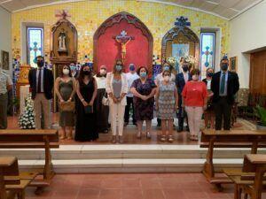 Concejales de la Corporación Municipal asisten a la Santa Misa en honor de la Virgen María Inmaculada, patrona del barrio de Santa María