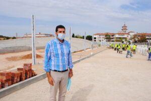 Ejecutado al 50% el velódromo de Valdepeñas, que inicia la tercera fase de las obras