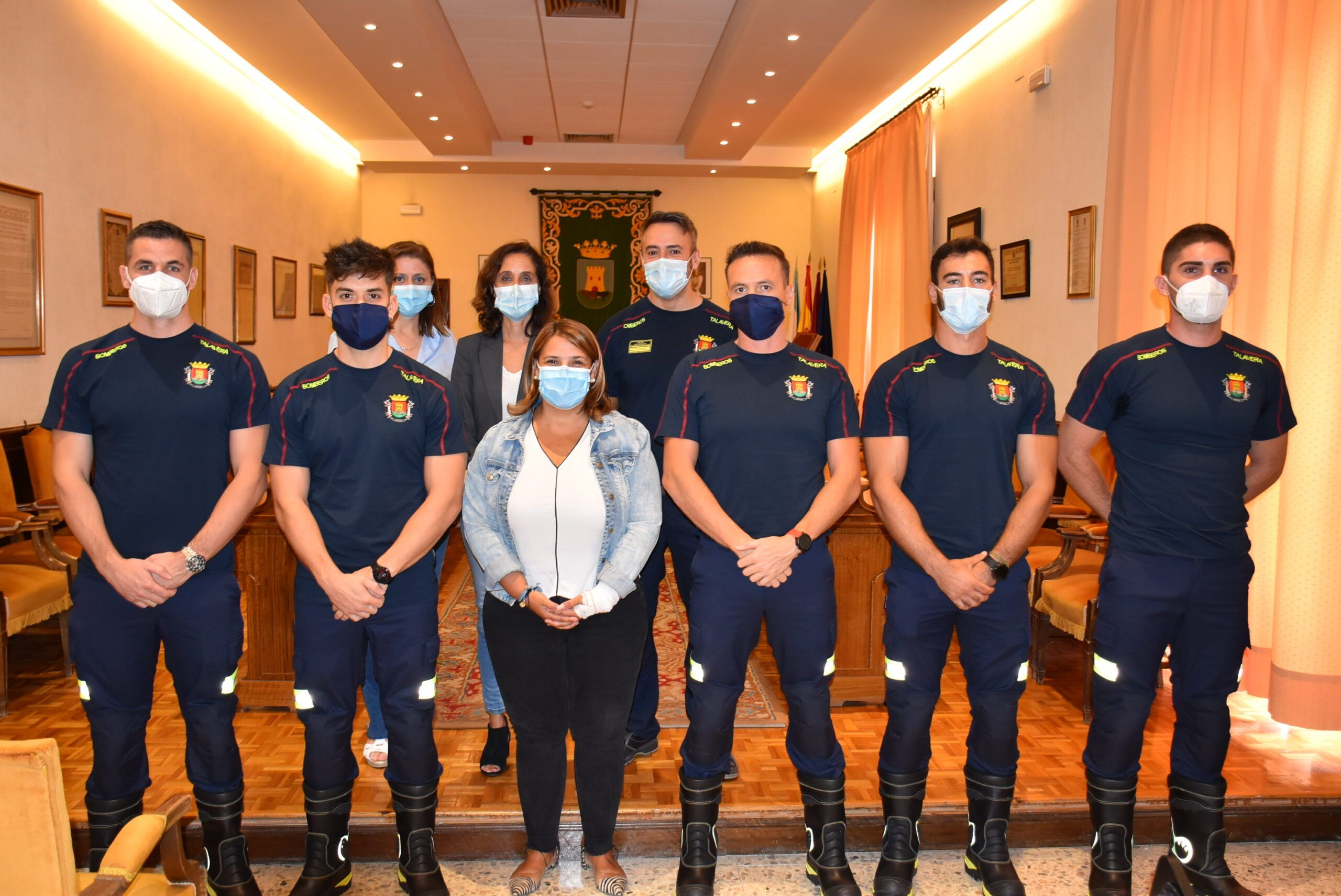 Cinco nuevos bomberos incrementarán la plantilla del Servicio de Extinción de Talavera 9 años después de las últimas incorporaciones