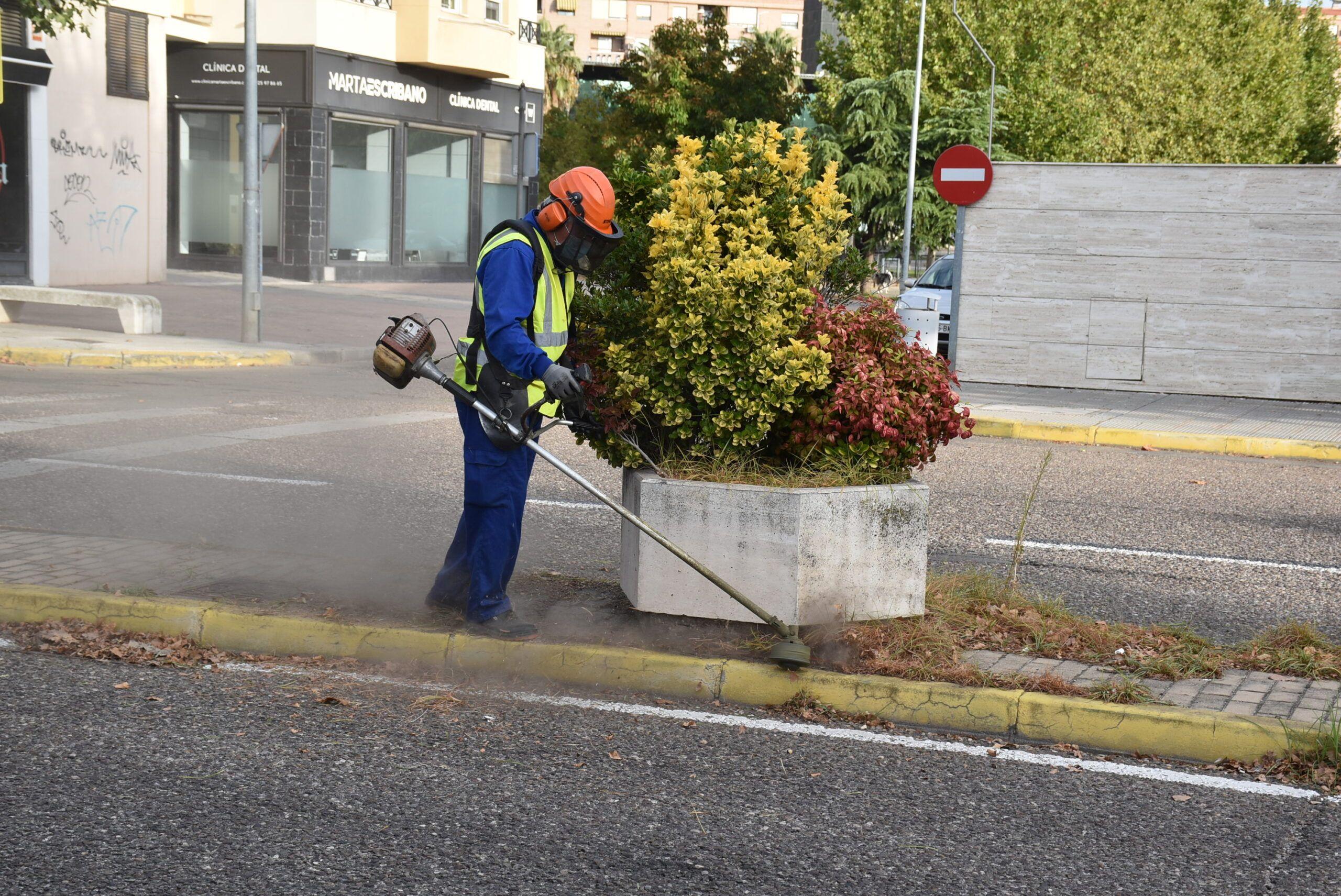 El Ayuntamiento de Talavera inicia una actuación para desbrozar y acondicionar medianas y viales urbanos en la ciudad