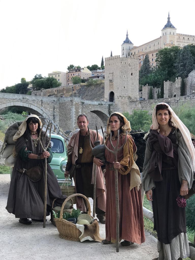 El escritor Jordi Corominas graba en Toledo uno de los episodios de su nuevo proyecto audiovisual para La 2 de RTVE