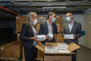 Tierraseca completa la entrega de las 646.000 mascarillas enviadas por el Gobierno de España a Castilla-La Mancha