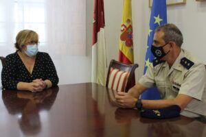 El Gobierno de Castilla-La Mancha desea muchos éxitos al teniente coronel, Santiago Rubio, nuevo jefe de la base BHELA I de Almagro