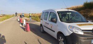 La Diputación actúa de urgencia para arreglar un socavón aparecido en la CUV-3231 en el término de Villar de Cañas