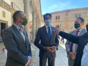 Comendador recuerda en Talavera a los mayores ante las alarmantes cifras de contagios en residencias como Virgen del Prado, de la Junta, o San José, de Diputación
