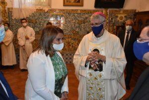 """La alcaldesa de Talavera anima a vivir la festividad de la Virgen del Prado pidiendo a la población """"estar juntos en la causa común"""" contra el Covid-19"""