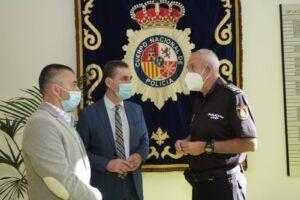Tierraseca expresa el compromiso del Gobierno con las FCSE en su visita a la Comisaría Provincial de Albacete