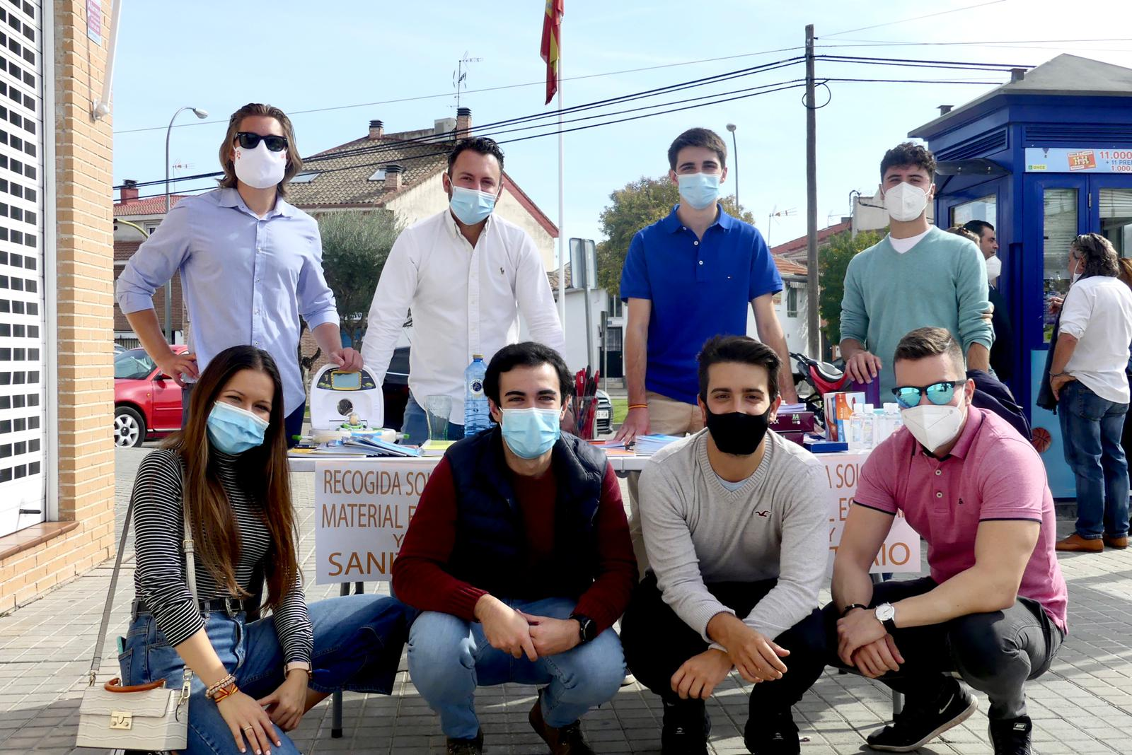 Jóvenes Cs de C-LM recogen en El Casar material sanitario y escolar que entregarán a Cruz Roja
