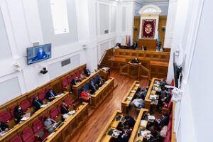 """García-Page asegura estar """"muy determinado a cumplir"""" con su programa de Gobierno para esta legislatura """"sin excusarse"""" en el virus"""