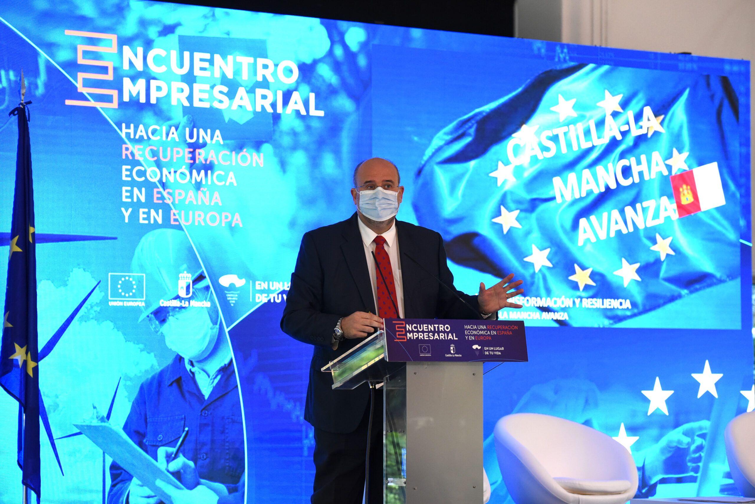 Castilla-La Mancha tiende la mano al tejido empresarial de la región para captar fondos de recuperación europeos