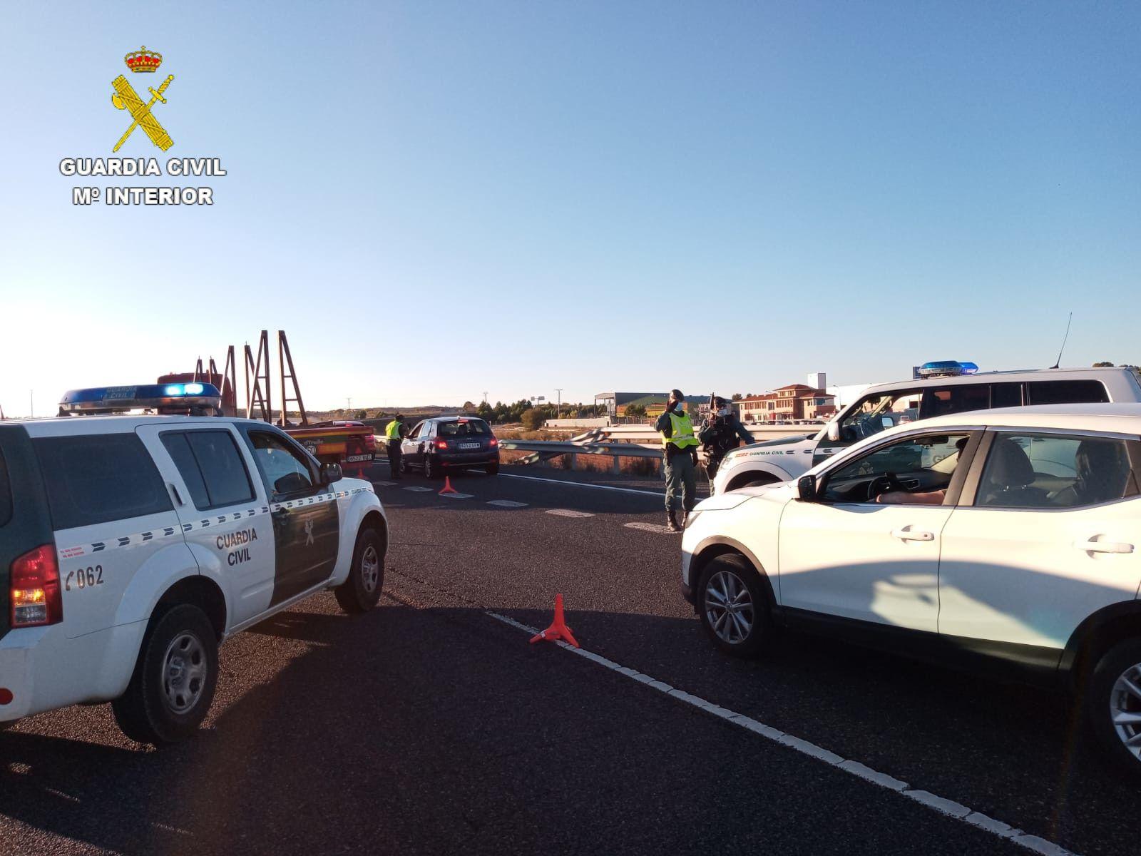 La Guardia Civil realiza controles perimetrales en la provincia de Cuenca