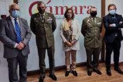 La presidenta de la Cámara de Comercio de Toledo recibe al delegado de Defensa de Castilla-La Mancha