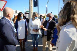 Tolón destaca su compromiso con la promoción económica y el empleo en una visita a las obras de la C/ Jarama