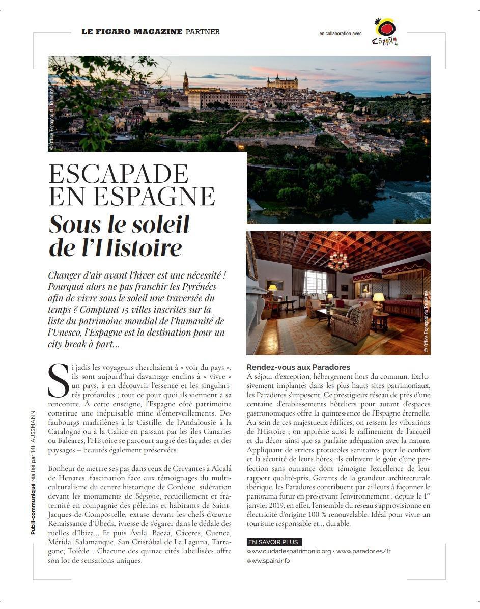 Toledo, protagonista de la revista francesa Fígaro Magazine en su número 'Escapadas de Otoño'