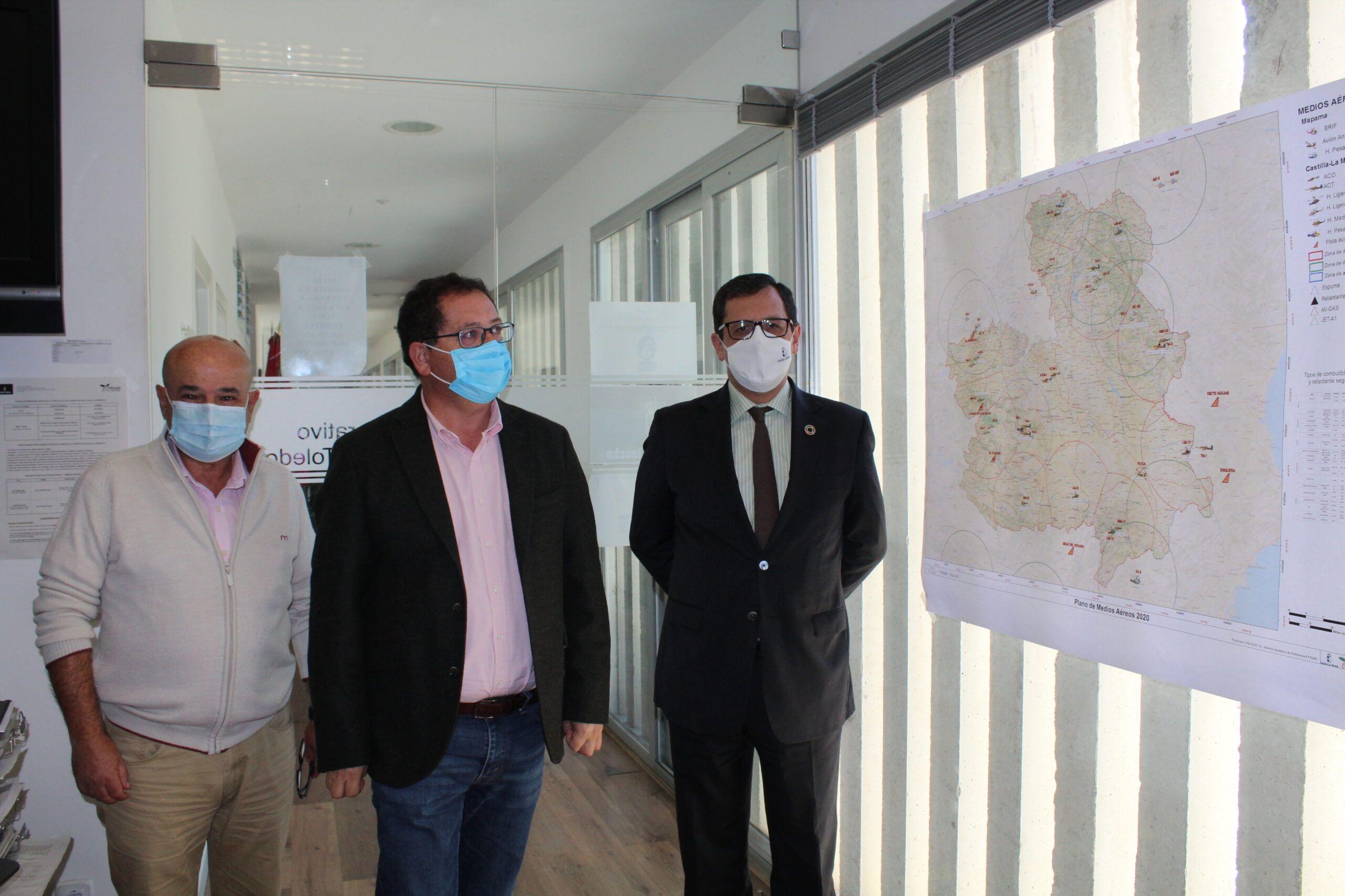 """El Gobierno regional califica de """"positiva"""" la campaña de lucha contra incendios en la provincia de Toledo, con una reducción del 64% de la superficie forestal afectada respecto a 2019"""