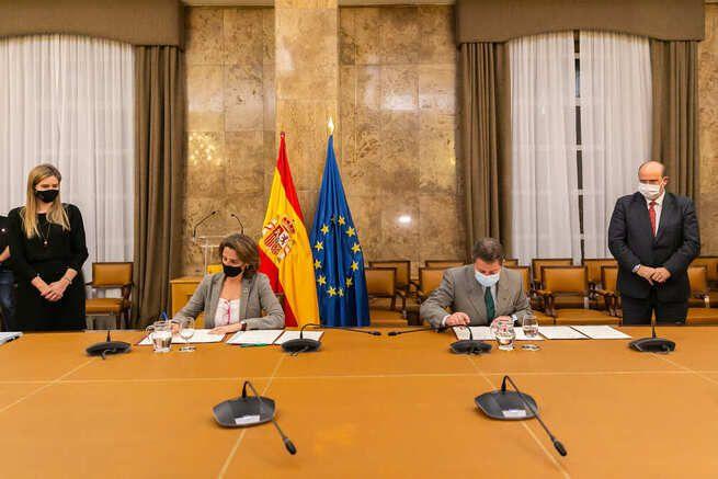 El Gobierno de Castilla-La Mancha, el MITECO, la FEMP y AMAC firman el protocolo de actuación para la elaboración del Convenio de Transición Justa de Zorita
