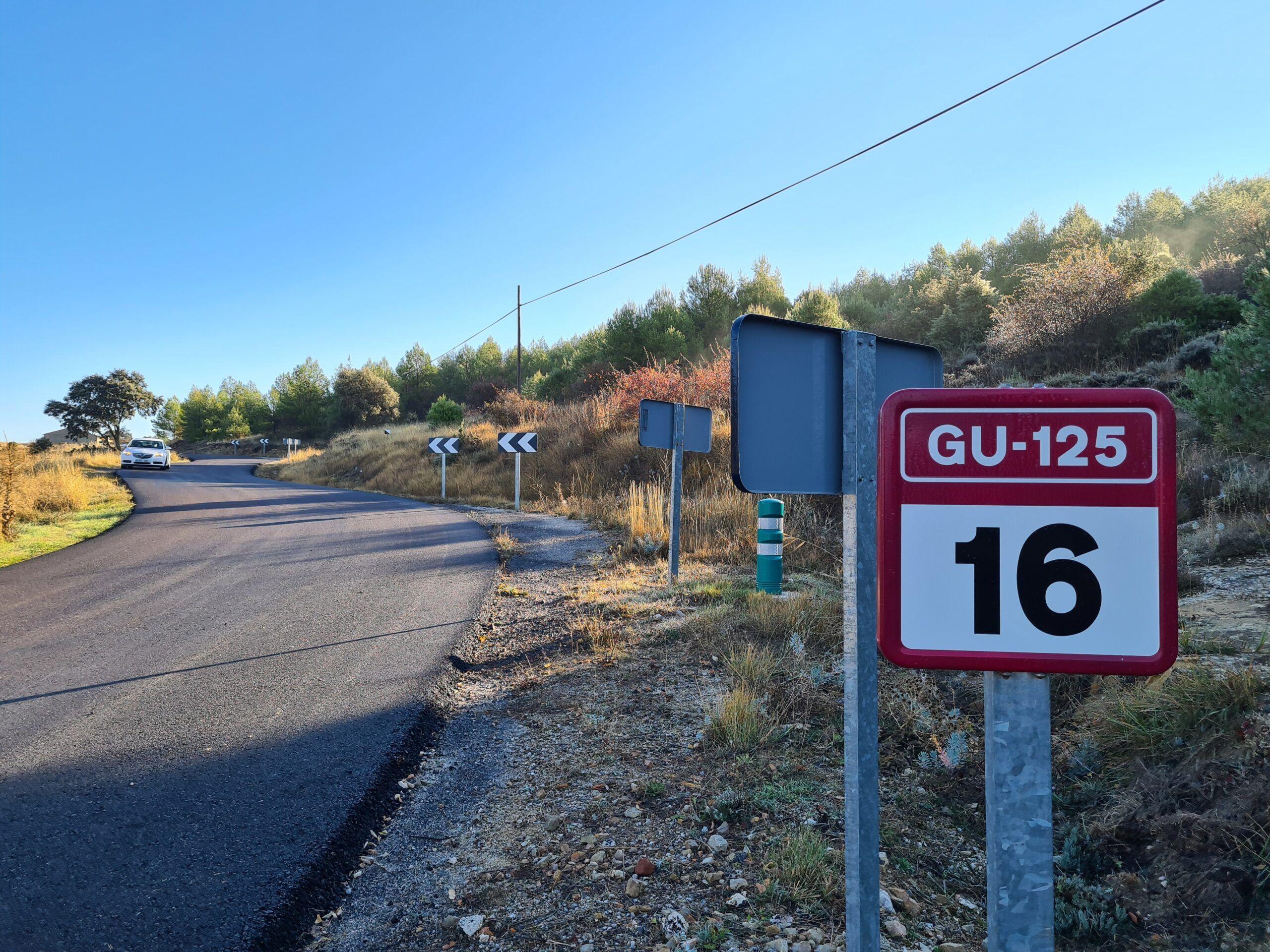 La Diputación arregla la carretera GU-125 entre Sigüenza y Guijosa