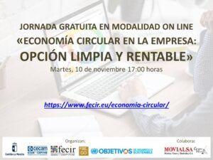 FECIR ORGANIZA LA JORNADA ON LINE GRATUITA: «Economía Circular en la Empresa: Opción Limpia y Rentable»