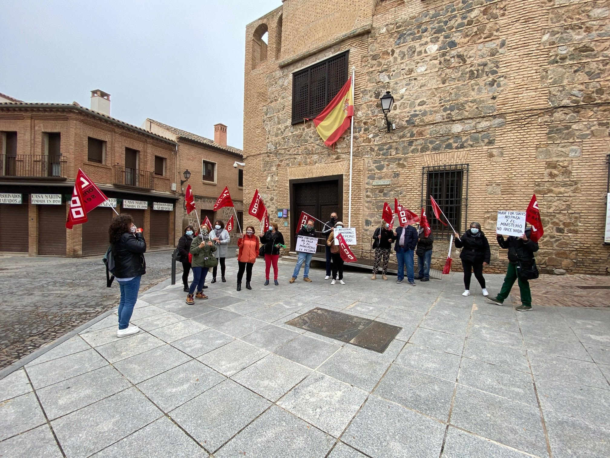 Las trabajadoras de la contrata de la Museos estatales de Toledo Sefardí y Casa del Greco se movilizan para exigir el pago de sus salarios